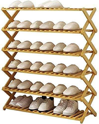 Pared pintura Estante del Zapato Plegable de Madera Zapatero Corredor Puerta del Cuarto Nivel de Las Puertas Bastidores 6 Zapato Taburete Cambiar Zapatos