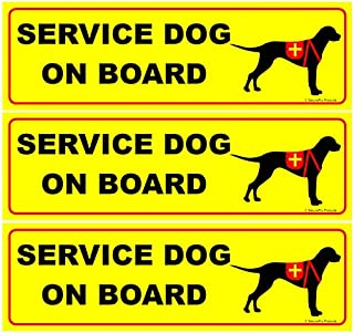 SecurePro Products 3 Service Dog on Board Decals - Size: 10.75