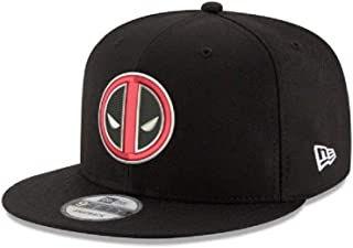 Deadpool Logo Marvel 9FIFTY Snapback Cap Hat Headwear Black