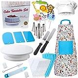 Queta 37 Piezas Juego de Cocina Delantales para Niños Set Roles Chef para niños de 3 a 12 años Juego para Hornear Pasteles