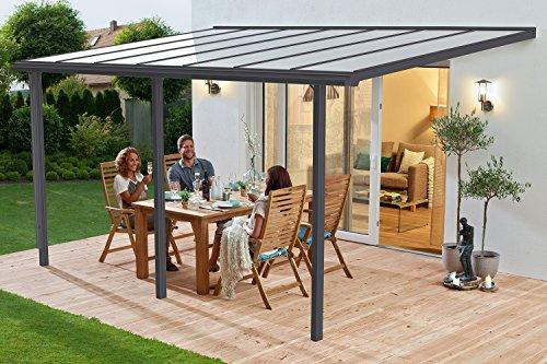 Beckmann Terrassen-Überdachung Trend 435 x 300 cm Anthrazitgrau RAL 7016