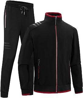 Goorape Men's Classic 3-Stripe Athletic Tracksuit Jogging Comfortable Sweat Suit Set