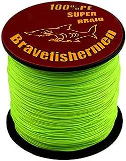 Bravefishermen Super Strong Pe Braided Fishing Line 6LB to 100LB Fluorescent Green