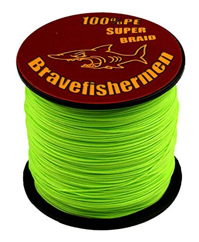 Fluorescent Green Super Strong Pe Braided Fishing Line 6LB to100LB (1000m, 40LB)