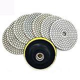 XIANGSHAN 7 unids/Set 3'/ 4' Almohadilla de Pulido de Diamantes Flexible 80/100 mm Pulido Pulido Granito Pulido de húmedo HC05 (Color : 1 PCS M10 Backer, Size : 800)