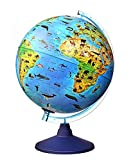 alldoro 68620 3D Lexi Ø 25 cm con Smartphone IQ Globe App Globe luminoso con lámpara LED sin cable, globo terráqueo infantil con animales, mapa del mundo geográfico iluminado, niños a partir de 3 años