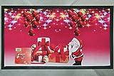 Russo Tessuti Tappeto Zerbino Babbo Natale Natalizio Digitale Rettangolare Antiscivolo Rosso ZerbinoNatale1-Variante 5