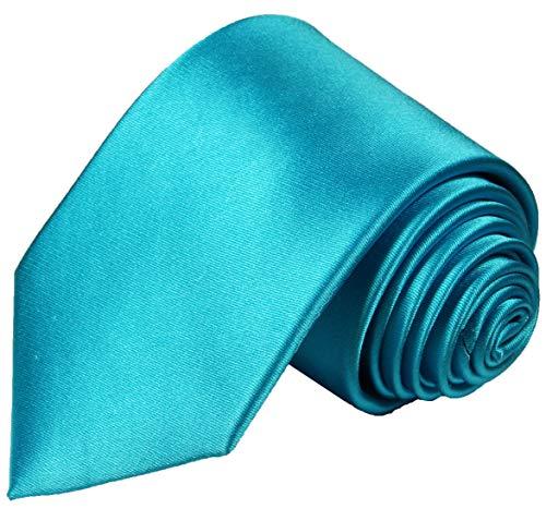 Cravate homme turquoise satiné uni ensemble de cravate 2 Pièces ( 100% Soie Cravate + Mouchoir )