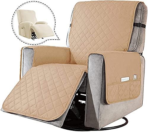 FORCHEER Sesselschoner Sesselauflage Relax mit rutschfest, 1 Sitzer Sesselschutz Sofaüberwurf Breiten verstellbaren Trägern