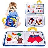 colmanda Bébé Tissu Livres, Livres en Tissu Doux pour bébé, Livres interactifs en Tissu 3D Jouet Educatif Livres d'éveil pour Enfants en Bas âge, Intelligence Development pour Bambin Enfants Bébé