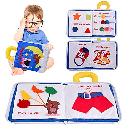 colmanda Libro para Bebés, Libros de Tela para Bebé, Libro de Tela Suave Activity Libros Blandos Libro de Juguetes para bebés Libro de Tela Educativo, Libro de Tela Aprendizaje para Bebé
