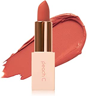 Peach C 4Season MLBB Korean Lipstick – Semi-Matte Lipstick – Silky Finish and Moisturizing Effect – Lightweight and Rich Velvet Texture – Highly-Pigmented Lip Sticks – Long-Lasting Effect (April Shower)