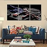 Mookou American State Flag3P Gemälde auf Leinwand,