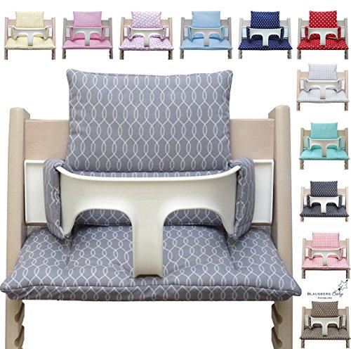 Blausberg Baby - Sitzkissen Kissen Polster Set für Stokke Tripp Trapp Hochstuhl- Einheitsgröße, Sailor Grau