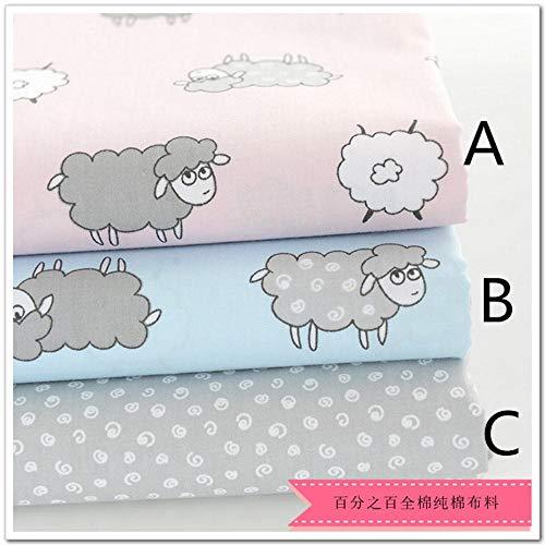 Zzxx 160CMx50CM schapen kinderkamer katoen beddengoed kussen patchwork stof tecidos quilten bedzee naaien weefsel