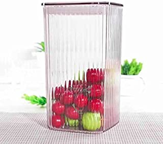 HOMIES INTERNATIONAL glass look fibre container with easy lock lid, for tea, sugar, coffee, cookie, cereals Dimension: 13×...