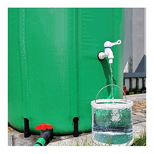 YJFENG Portátil Plegable Barril de Lluvia, Impermeable Lona de PVC Bolsa de Agua, para Recogida de Agua de Lluvia, Camping al Aire Libre (Color : Green, Size : 500L/80x98cm)