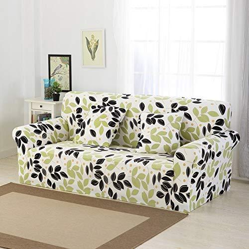 WXQY Funda de sofá Floral Funda de sofá elástica Todo Incluido Funda de sofá Antideslizante combinación de Funda de sofá de Esquina en Forma de L A11 3 plazas