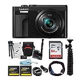 Panasonic LUMIX DC-ZS70K 20.3MP 4K Digital Camera (Black) with 64GB SD Card and Accessory Bundle