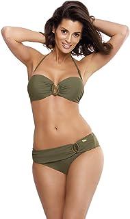 DAMEN Neckholder Bikini Push Up SET TOP Hose AUSWAHL Farben PUSHUP S-XXL HOT