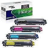SINOPRINT - Cartucho de tóner compatible para Brother TN241 TN245 TN242 TN246 para Brother HL-3140CW HL-3142CW HL-3150CDW HL-3152CDW HL-3170CDW HL-3172CDW DCP-9015CDW DCP-9020CDW (4 unidades)