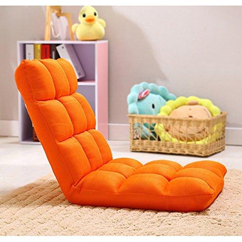 Fu Man Li Trading Company Personne Seule, Paresseux, Simple, Respirant, canapé, Fauteuil, Chaise, lit, Dossier, Chaise, Fauteuil A+ (Couleur : Orange)