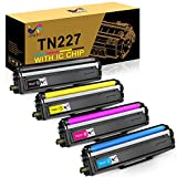 ONLYU Compatible Toner Cartridge Replacement for Brother TN227 TN-227 TN227BK TN223 TN 227 for HL-L3210CW HL-L3230CDW HL-L3270CDW HL-L3290CDW MFC-L3710CW MFC-L3750CDW MFC-L3770CDW (4 Pack)