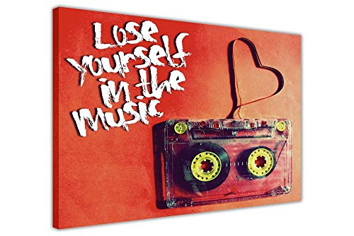 Aluminum Metal Sign for tin Signs 12x16inches,Retro Music Tape Lose Yourself Quote Pictures Wall Art S,Best in Metal Sign Retro Home Decoration Vintage Tin Sign for Bar Pub Home