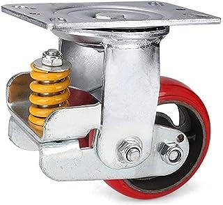 Rode draaibare poort wiel polyurethaan plaat wielen hek hardware, schaalbare veer beladen, schokdemper, belasting Max 350k...