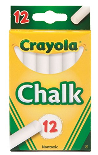 Crayola White Chalk 12 Ea Pack of 6
