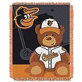 MLB Baltimore Orioles Baby Woven Jacquard Throw Blanket, 36' x 46'