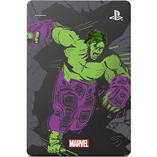 Seagate Game Drive für PS4 Marvel's Avengers LE – Hulk 2TB Externe Festplatte – USB 3.0 – Metallic Grau – Offiziell lizenzierte Kompatibilität mit PS4 (STGD2000105)