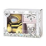Me To You AGZ01093 Juego de regalo de flores silvestres de abeja - Teddy, maceta y papel de semilla