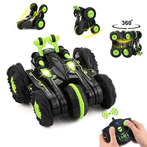 BBLIKE Remote Control Car, 2.4GHz 4WD Stunt Car 360° Spins & Flips Off-road Racing Car for 5 Years Old Boys & Girls