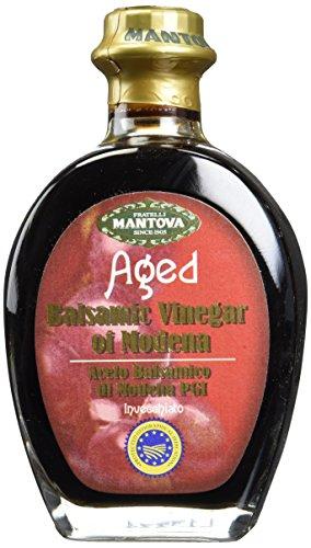 Mantova Aged Balsamic Vinegar of Modena IGP 8.5 Oz - Authentic Italian Balsamic Vinegar of Modena