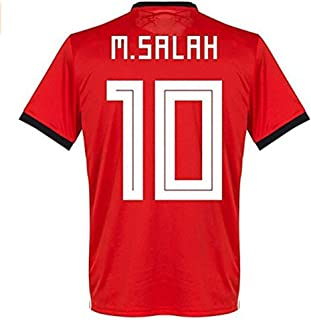Egypt National Team 10 M Salah Home Mens Soccer Jersey Color Red Size S