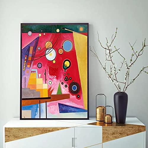 Canvastavla Canvastavla Abstrakt synestesi trycker tung röd utställning Museum Poster Wall Art Decor Dekorativa målningar födelsedagspresent Ramlös 50X70CM