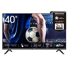 Hisense 40AE5500F 100cm (40 Zoll) Fernseher (Full HD, Triple Tuner DVB-C/ S/ S2/ T/ T2, Smart-TV, Frameless, Prime Video, Netflix, YouTube, DAZN),schwarz©Amazon