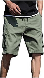 """KSNUEWS Plus Size Fashion Outdoor Cargo Shorts for Men Classic 9"""" Inseam Big Pockets Hiking Trunks Casual Comfy Pants"""