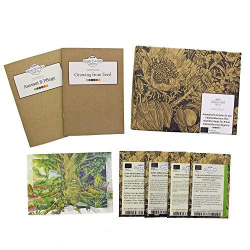 Erbe aromatiche per l'incenso rituale (Bio) - Set regalo di semi con 4 varietà sciamaniche