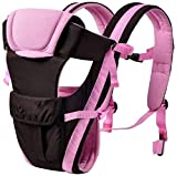 Baby Desire Baby Front Facing Breathable Carrier 4 in 1 Infant Backpack. (Pink)