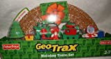 Geotrax Holiday Express Train Set Includes full loop track with snow, push train and more