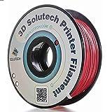 3D Solutech 3DSPLA175MELT Merlot Red 3D Printer PLA Filament 1.75MM Filament, Dimensional Accuracy +/- 0.03 mm, 2.2 LBS (1.0KG)
