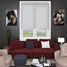 Blinds2Curtains Polyester White 150 cm x 120 cm Abigail Textured Roller Blind