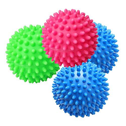 Gobesty Trocknerbälle für Wäschetrockner, 4 Stück Trocknerkugeln Fluffy Trocknerbälle Waschball für Waschmaschine Wiederverwendbare Wäsche Trocknen Ball Dryer Balls, Zufällige Farbe