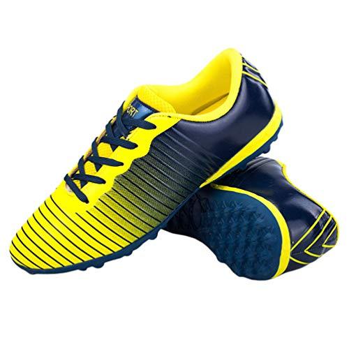 Holibanna 1 par de botas de fútbol para niños, antideslizantes, para entrenamiento de fútbol, color, talla 31.5 EU