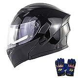 〔正規品〕 Criss SOMAN バイクヘルメット システムヘルメット フリップアップヘルメット 多色 人気商品 男女兼用 ダブルシールド フルフェイスヘルメット オートバイ 手袋は無料でサービスします (B8, M)