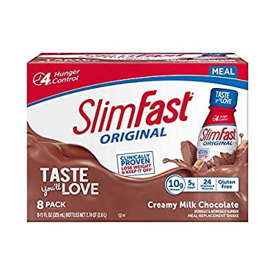SlimFast Original - RTD Shakes - with 10g of Protein & 5g of Fiber - Plus 24 Vitamins and Minerals per Serving