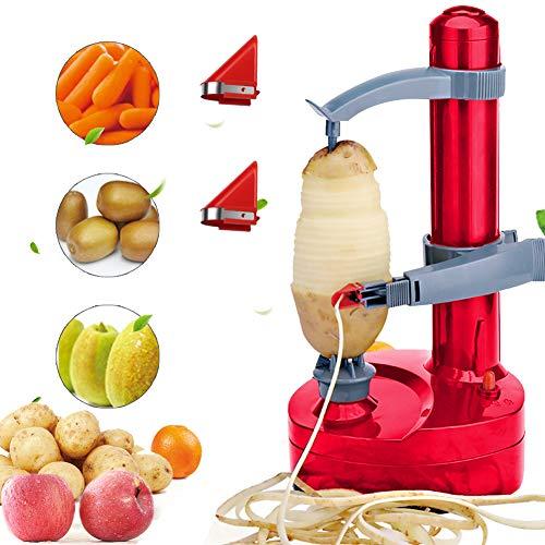 Electric Potato Peeler, Stainless Steel Electric Fruit Peeler, Automatic Potato Peeler Rotating Fruit and Vegetable Peeling Machine, Yoruii Kitchen Peeling Tool