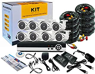 8Channel AHD CCTV Kit 1080P/2.0MP 1920X1080 Camera 8CH Kit with Hybrid 5in1 1080N DVR Security Recording System and 8pcs S...